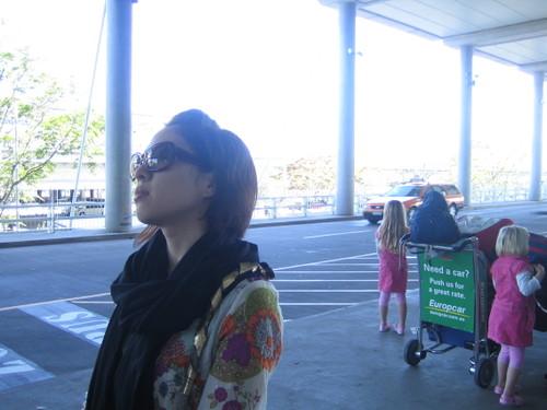 ブリスベン国際空港にて。
